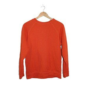 Topshop Burnt Orange Crewneck Sweatshirt